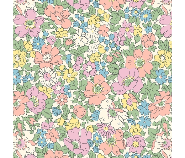 Liberty of London Cottage Garden Cosmos Meadow Flowers Fabric LF04775611W