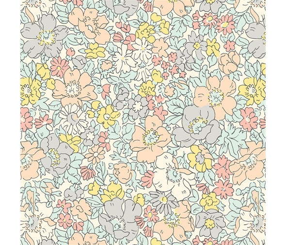 Liberty of London Cottage Garden Cosmos Meadow Flowers Fabric LF04775611X