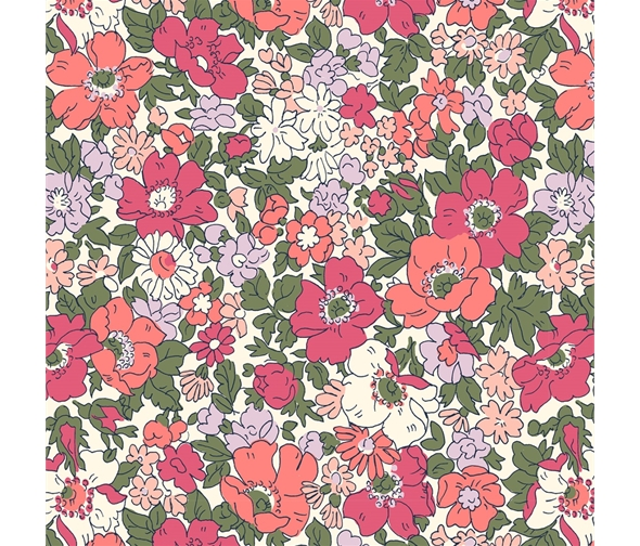 Liberty of London Cottage Garden Cosmos Meadow Flowers Fabric LF04775611Y
