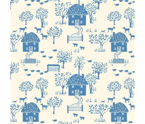 Liberty of London Cottage Garden Cottage Lane Blue Cotton Fabric LF04775616Y