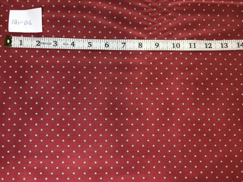 RJR Fabrics Home Essentials Polka Dot Red Olive Fabric FA1-016