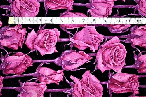 Fabric Freedom Twilight Garden Rose Magenta Fabric FA2-001