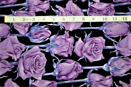 Fabric Freedom Twilight Garden Rose Purple Fabric FA2-002