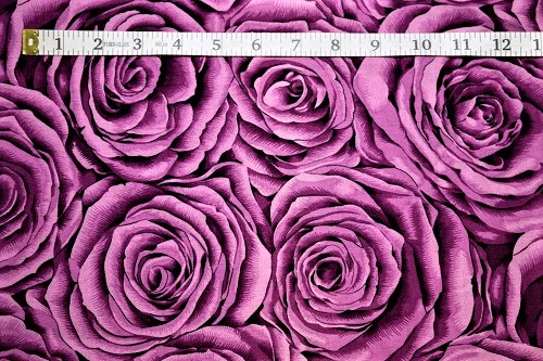 Fabric Freedom Twilight Garden Rose Magenta Fabric FA2-003