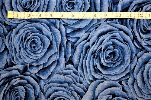 Fabric Freedom Twilight Garden Rose Blue Fabric FA2-005