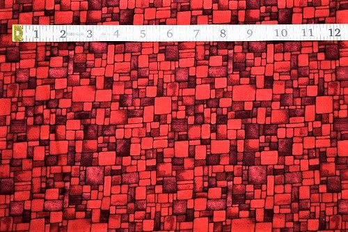 Fabric Freedom Light Fantastic Mosaic Red Fabric FA2-006