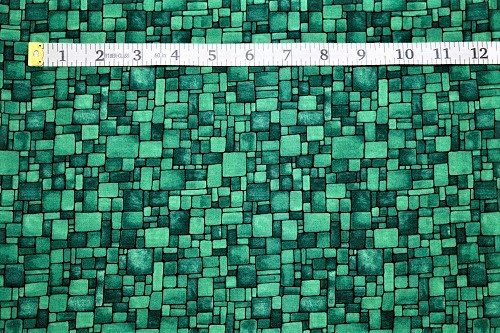 Fabric Freedom Light Fantastic Mosaic Green Fabric FA2-007