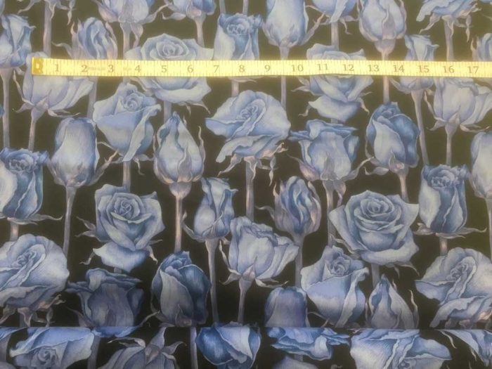 Fabric Freedom Twilight Garden Rose Blue Fabric FA2-013