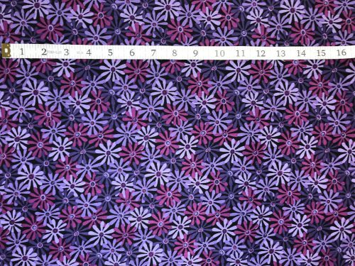 Fabric Freedom Twilight Garden Flower Purple Fabric FA2-018