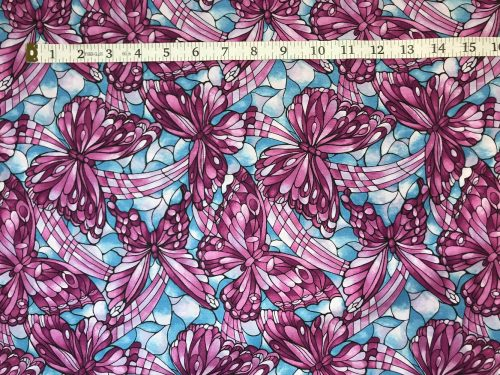 Fabric Freedom Light Fantastic Butterfly Lilac Fabric FA2-023
