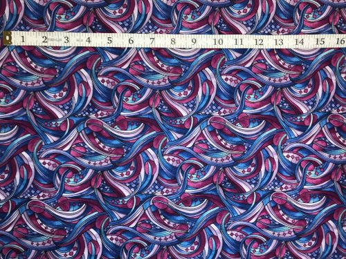 Fabric Freedom Light Fantastic Swirls Purple Fabric FA2-024