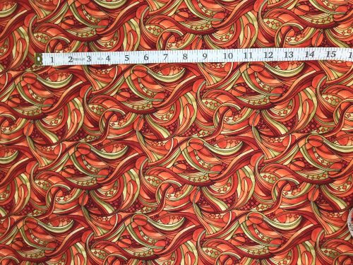 Fabric Freedom Light Fantastic Swirls Orange Fabric FA2-027