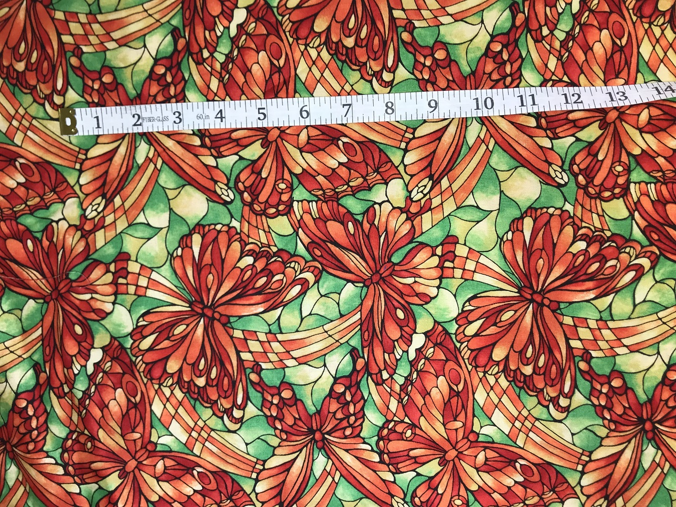 Fabric Freedom Light Fantastic Butterfly Orange Fabric FA2-029