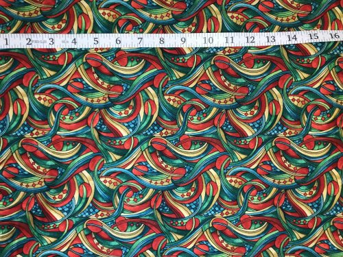 Fabric Freedom Light Fantastic Swirls Orange Fabric FA2-031