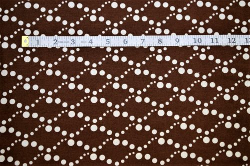 RJR Fabrics Doodle Zoo Diamond White Dots Brown Cotton Fabric FA3-007