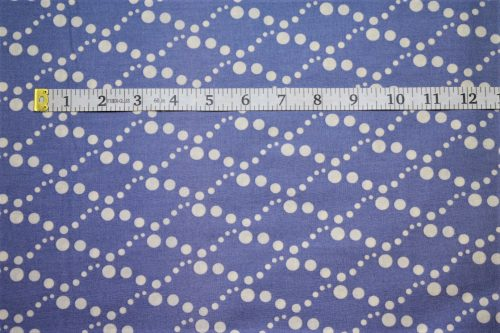 RJR Fabrics Doodle Zoo Diamond White Dots Blue Cotton Fabric FA3-009