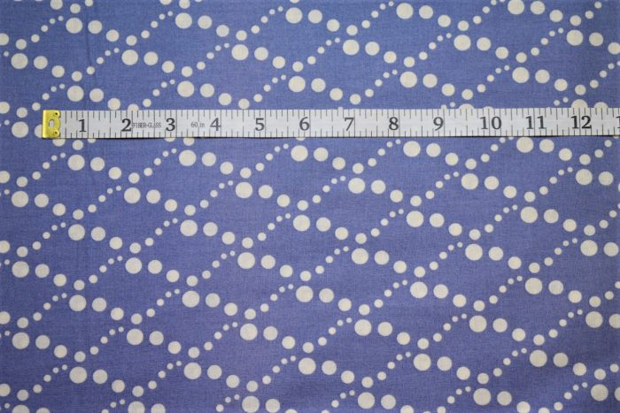 RJR Fabrics Doodle Zoo Diamond Blue White Fabric FA3-009