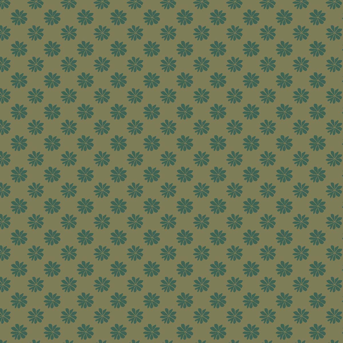 Liberty of London English Garden Floral Dot Green Fabric LF04775603X