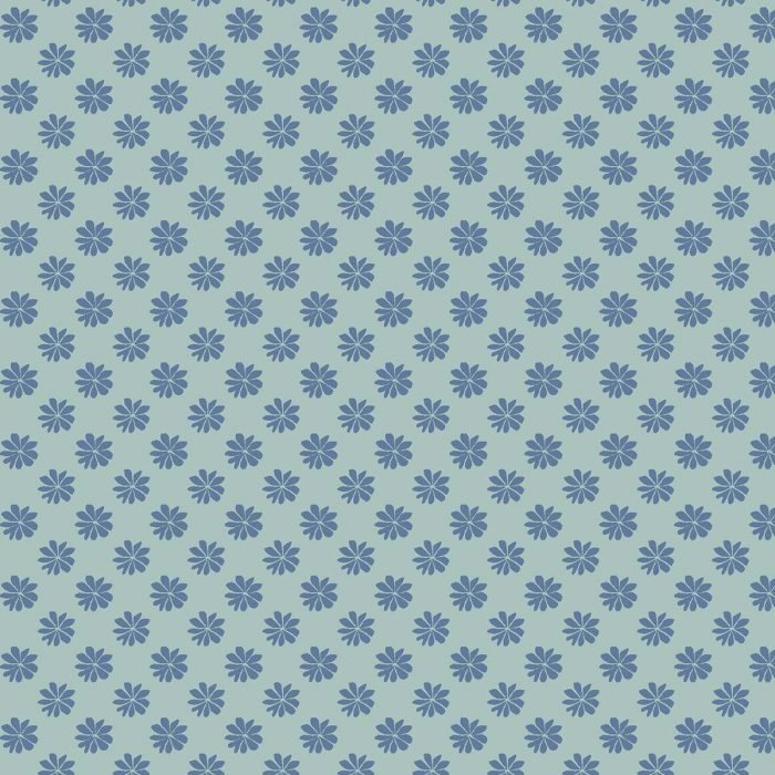 Liberty of London English Garden Floral Dot Blue Fabric LF04775603Z
