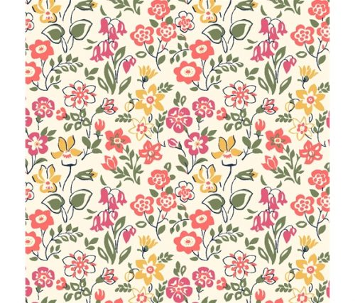 Liberty of London Cottage Garden Lawn Games Flowers Fabric LF04775615X