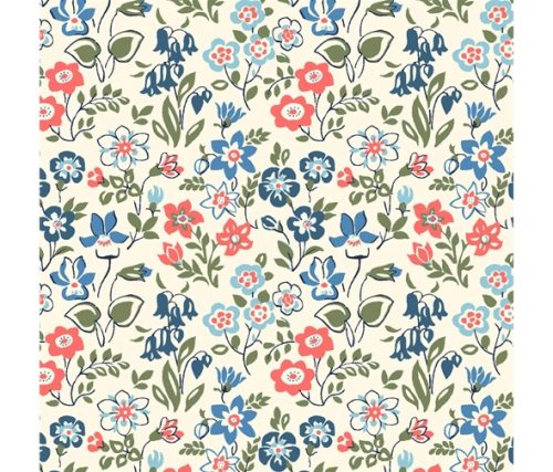 Liberty of London Cottage Garden Lawn Games Flowers Cotton Fabric LF04775615Y