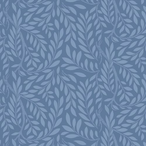 Liberty of London English Garden Leaf Trail Blue Fabric LF04775607Z
