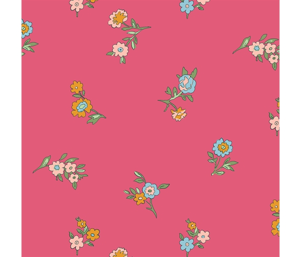 Liberty of London Cottage Garden Little Vine Red Fabric LF04775614X