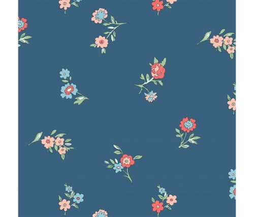 Liberty of London Cottage Garden Little Vine Blue Fabric LF04775614Y