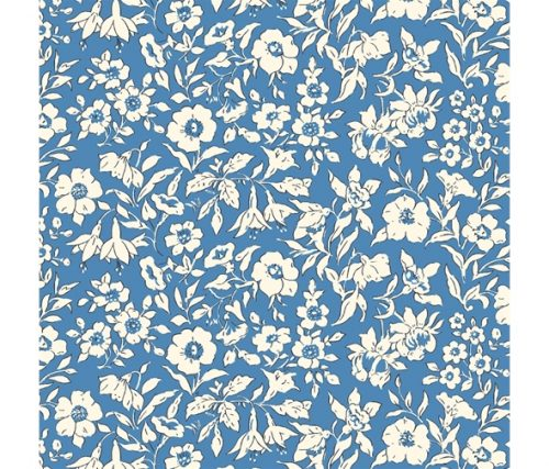 Liberty of London Cottage Garden Morning Dew Blue Fabric LF04775609Z