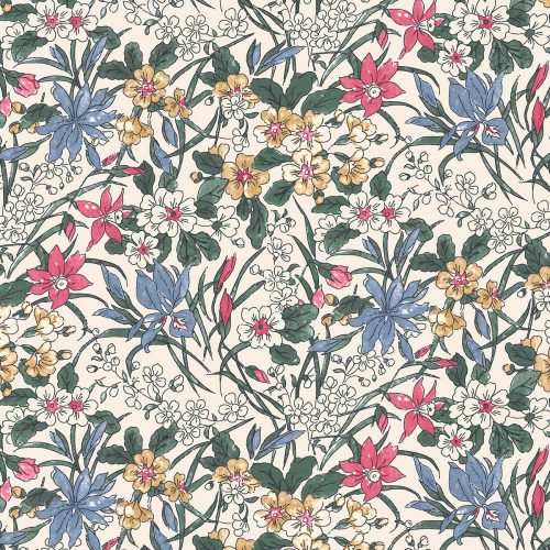 Liberty of London English Garden Ricardo Flowers Fabric LF04775606X