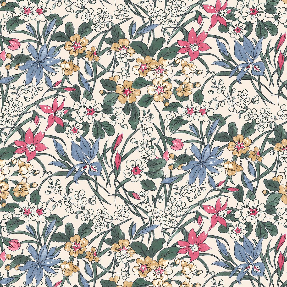 "/""Twilight Garden/"" 100/% Pure Cotton Fabric from Fabric Freedom"