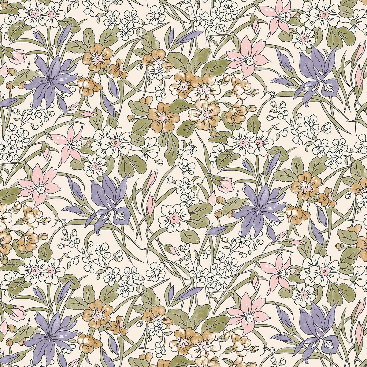 Liberty of London English Garden Ricardo Flowers Fabric LF04775606Z