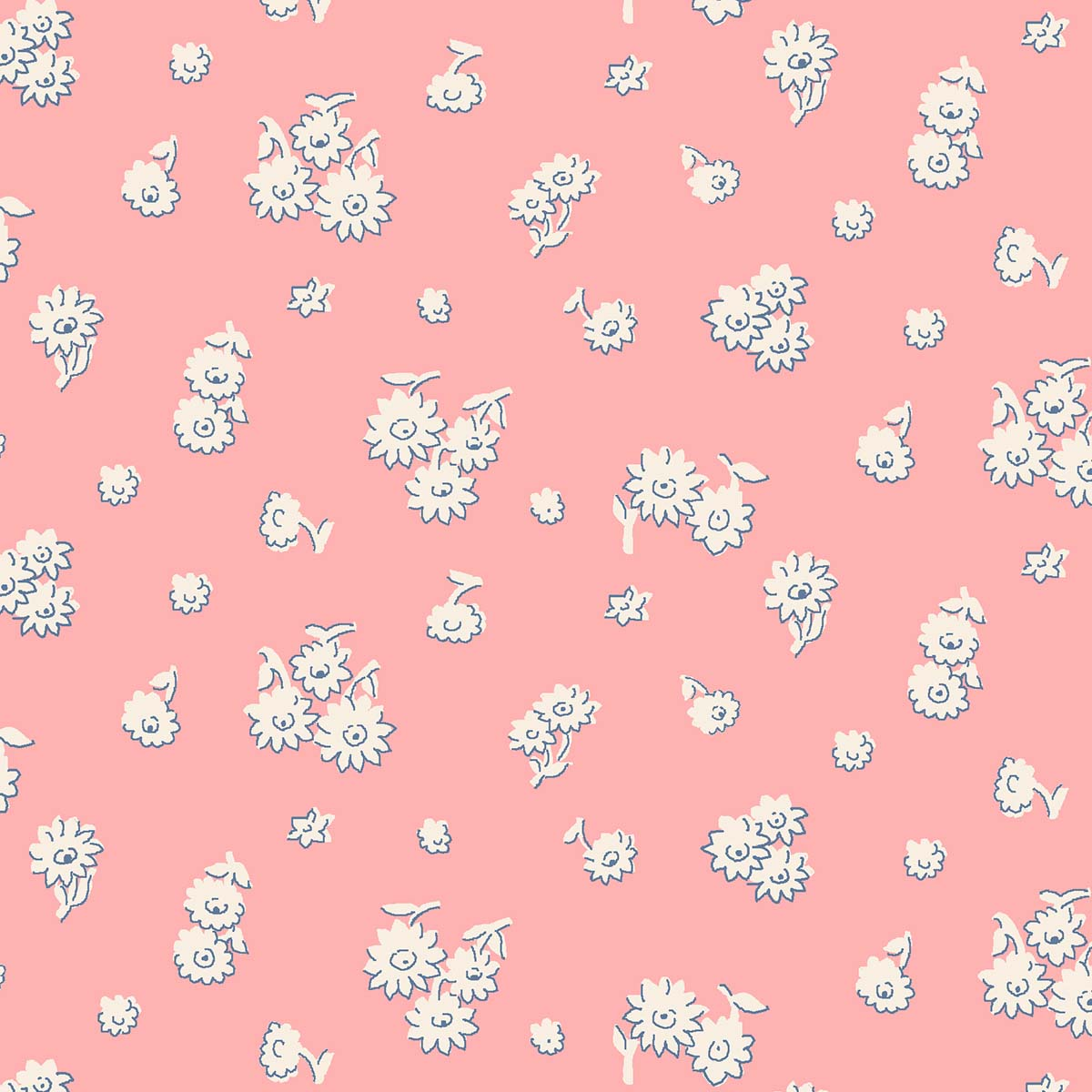Liberty of London English Garden Tumbling Daisy Pink Fabric LF04775602X